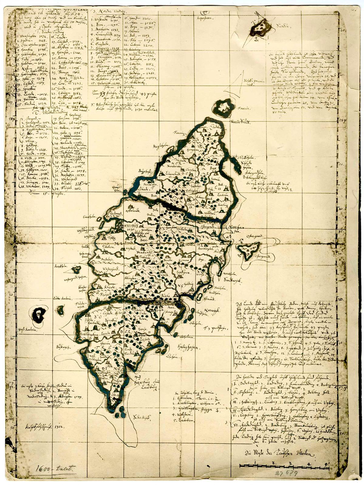 karta över södra gotland
