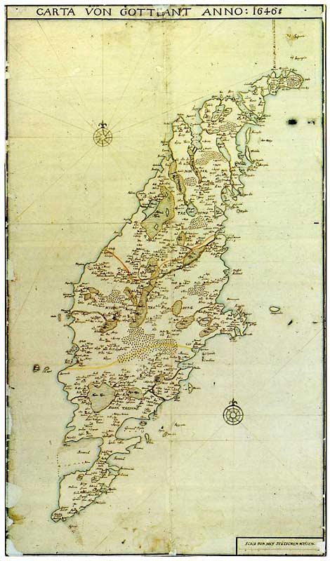 detaljerad karta gotland Gotlandica   Historiska kartor detaljerad karta gotland